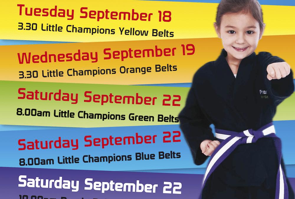 Little Champions Gradings September 2018
