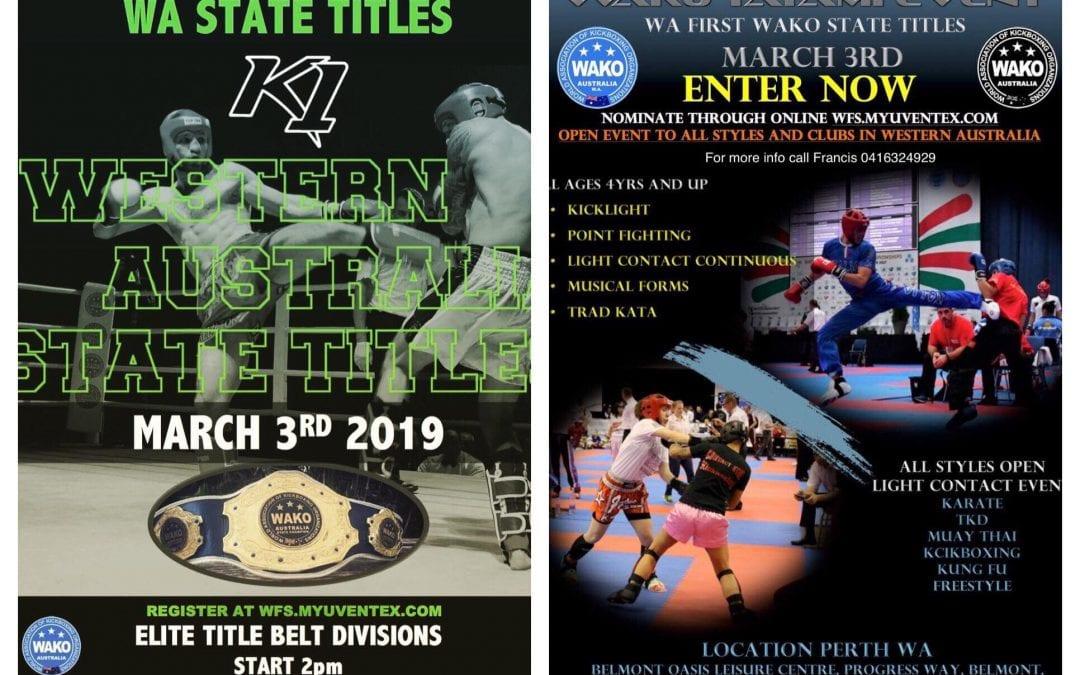 2019 WAKO State Titles