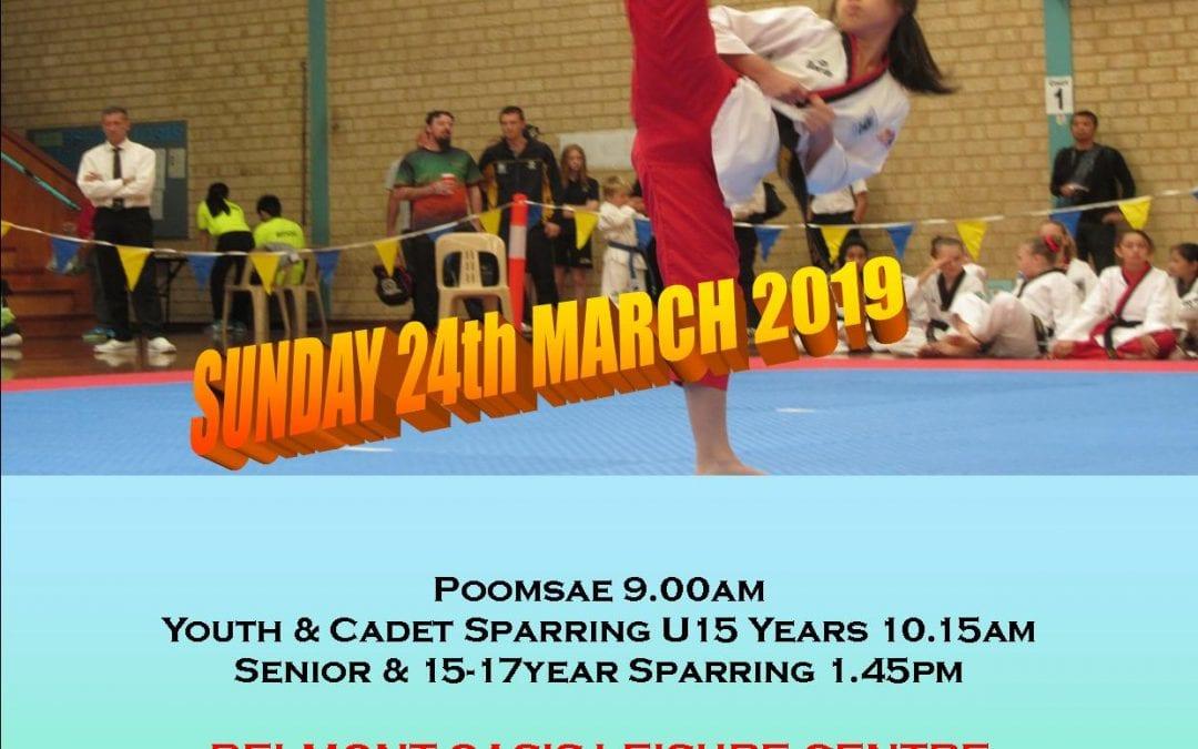 2019 Perth Open Taekwondo Championships – Sunday March 24
