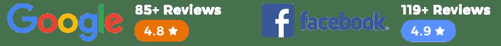 Google Reviews and Facebook Reviews